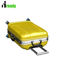 Fashion style light color briefcase trolley luggage with retractable wheels and TSA lock