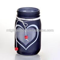 valentine's day love mason jar candle holders