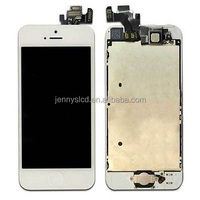 Original lcd assembly for iphone 5 lcd complete with all parts white