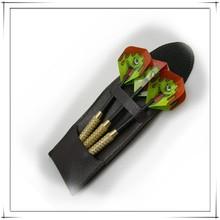 Black/white PU leather cheap dart case/wallet