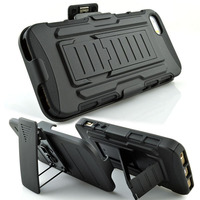 New black belt clip holster shell case cover combo+stand for apple iphone 5 5s
