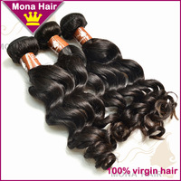 Accept OEM virgin hair distributor unprocessed wholesale brand name hair weave