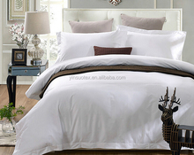New listed five-star hotel bedding 4 piece wholesale white cotton hotel bedsets