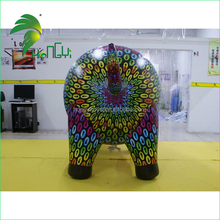 2015 Custom logo animal model, helium promotion inflatable pig for event