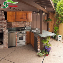 Beautiful Family outdoor kitchen countertops designs stone panel