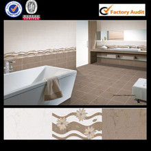 3 inch ceramic 3d tiles for bathroom in china