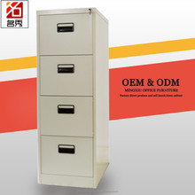 Cheap office furniture use vertical grey steel filing cabinet 4 drawer cabinet