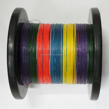 4 Strand colorful spectra PE material braid fishing line