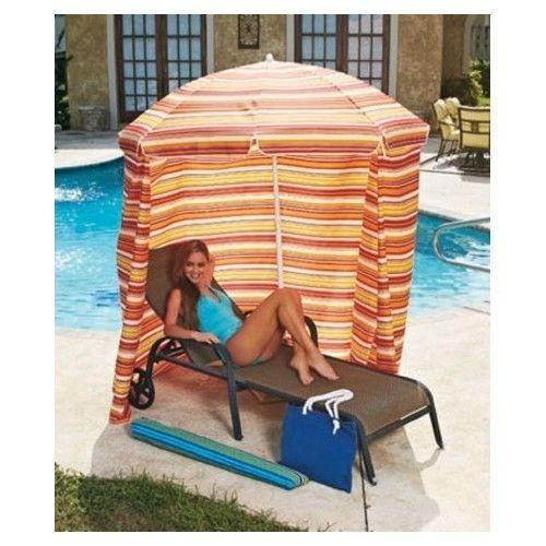 Pop Up Cabana Pool : Beach cabana sun shelter pop up portable canopy side