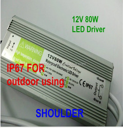 ac dc waterproof 12v LED transformer 80w led trafo power supply