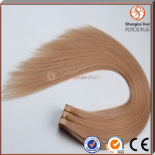 8A grade quality double drawn indian stick tape hair extensions
