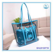 Promotion Clear PVC Fashion Tote Bag Trendy Transparent Beach Bag