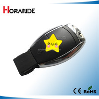 Horande Rplacement car key shell for mercedes benz car remote key cover with battery no chip 2 button fob