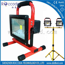 Solar Powered Rechargeable LED Flood Light with Sensor CE ROHS SAA