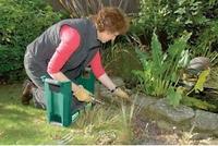 Outdoor Garden Plastic Stool Bench with Tool Storage