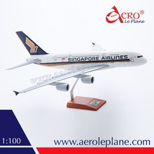 Resin airplane model 1:100 Singapore Airlines One Piece A380 airplane model