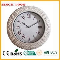 New design plastic 35.5 cm wall hanging retro zhangzhou clock