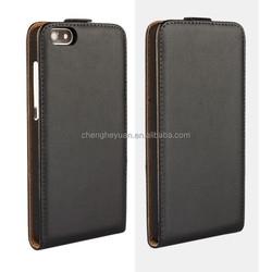 new products plain PU leather holster up and down flip phone case cover for huawei honor 4x