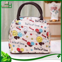 cartoon pictures printed nylon large shopping bag with zipper