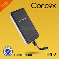 Manual gps sms gprs tracker vehicle tracking system real time tracking Concox TR02