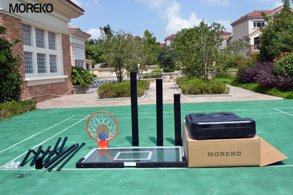 Portable Basketball Stand with spring rings, acrylic transparent backboard, adjustable basketball stand MK027
