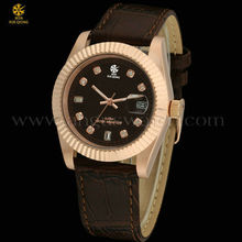 custom ot top brand genuine leather watch