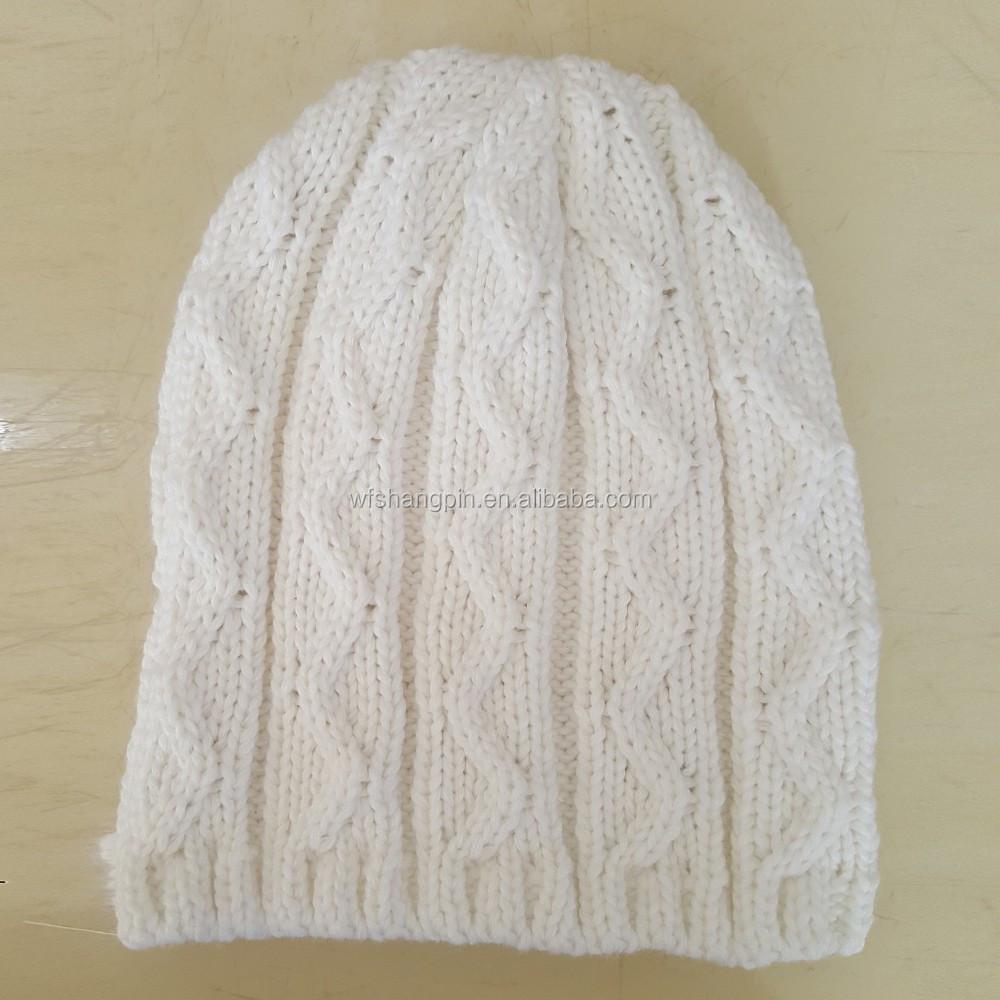 Adultos slouch patrón styly crochet diamante máquina de tejer ...
