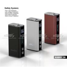 Kamry30 Variable Watt 7-30W mini box mod with volt meter e-cig ohm meter