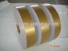 Coustom design embossing gold aluminum foil paper roll