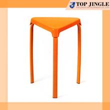 Glowing Orange Portable Triangle Shape Plastic Stool