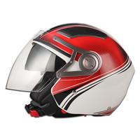 2015 double visor open face helmet Brand JX-OP02 two mirror helmets half face