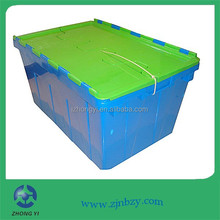2015 hot sell heavy duty large used stackable plastic crates for sale
