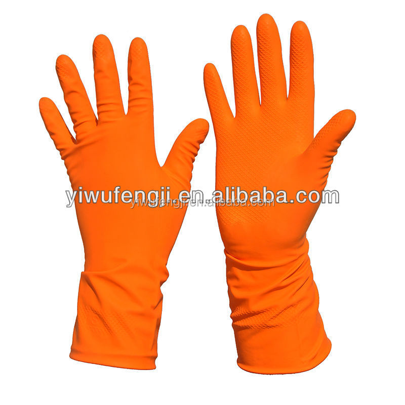 orange latex gant de m nage de nettoyage m nage en latex gants gants de m nage id du produit. Black Bedroom Furniture Sets. Home Design Ideas