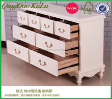 ECO friendly FSC and SEDEX audited multi drawer wooden cabinet for bedroom