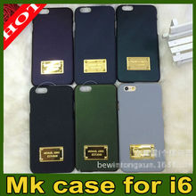 2014 HO TSELLING MK Michael Kors Design Custom for iPhone 6 6 plus Mk shockproof case for iphone 5 iphone 5s