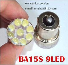wholasale S25 1156 1157 9 head high brightnessauto car LED brake light