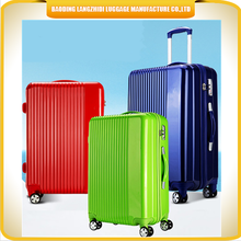 LZD new products ABS luggage case unique designed trolley luggage fashionable women's travel luggage
