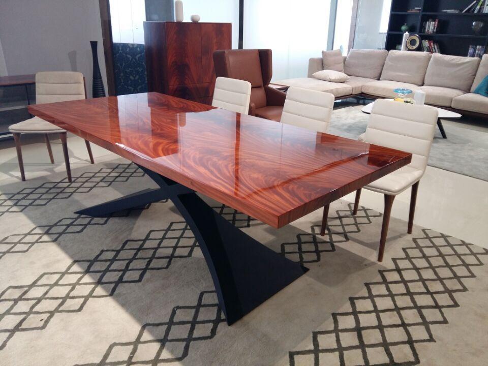 2015 diseño moderno comedor muebles de caoba de madera mesa de ...