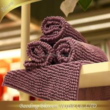 Washable Chenille Bathmat HRM Anti-slip Shower Mat 100% Polyester China Manufacturer Wholesale Bathmat Handmade Crafts