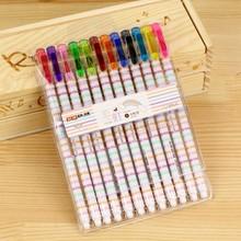 Rainbow style print gel pen for school supply V383a