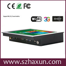 IP65 front 8V~28V Touch Rugged All in one PC, Fanless Industrial Panel Touch PC D2550,Wall mounting Industrial Panel PC 24V