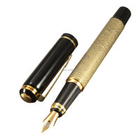 Wholesale Price Advanced Quality Eight Horses Silver and Golden High grade Classic Style Smooth Fountain Pen Brand New