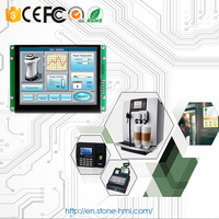 HMI and PLC touch control screen module with drive board and controller
