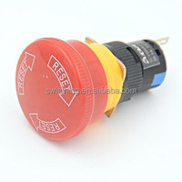 16mm panel hole emergency stop switch