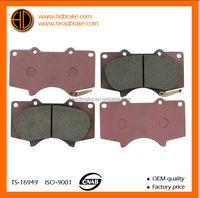 toyota prado brake pad / brake pads mitsubishi pajero/ toyota brake pads 04465-35290