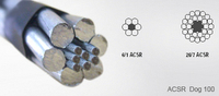 Acsr aluminum conductor steel reinforces ACSR PEACOCK - 605MCM