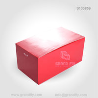 Red Cardboard Display Cubes