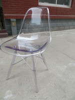 crystal dining plastic clear Chair PC-117B