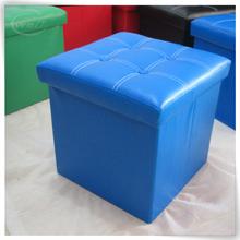 luxury storage display pu leather blue microfiber pink storage ottoman
