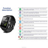 QWD Smart Watch U8 smart watch multi- lauguage fit for IOS Android Apple remote camera mp3 player pedometer